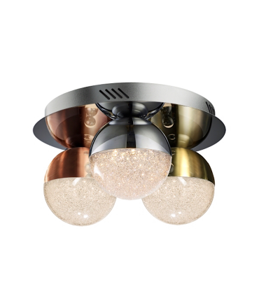 Plafon 3 luces led SPHERE color 30 cm de Schuller