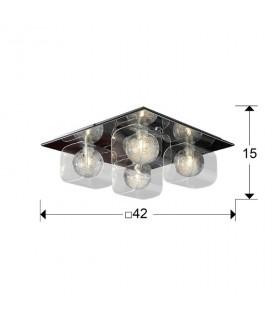 Plafón 4 luces ECLIPSE 506736 - Schuller