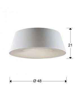 Plafón 4 luces ZONE blanco198533 - Schuller
