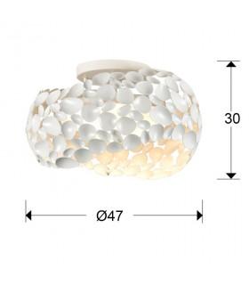 Plafón 5 luces NARISA 47cm 266847 blanco - Schuller