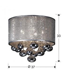 Plafón ANDROMEDA 5 luces cromo 174213 - Schuller