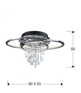 Plafón BRUMA  5 luces LED 696318 - Schuller