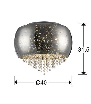 Plafón CAELUM cromo 40cm - Schuller