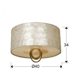 Plafon EDEN oro Ø40 3 luces 716583 - Schuller