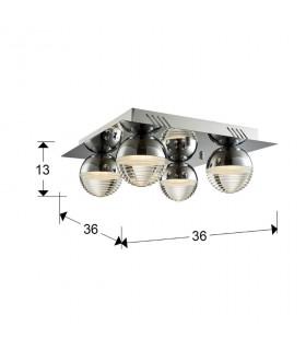 Plafon FLAVIA 4L LED 36x36 CR - Schuller