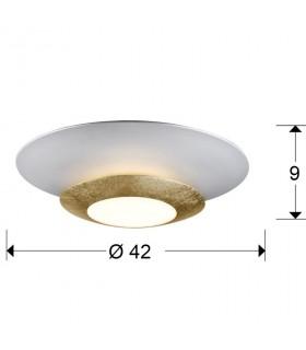 Plafón led HOLE oro 42cm 148277 - Schuller