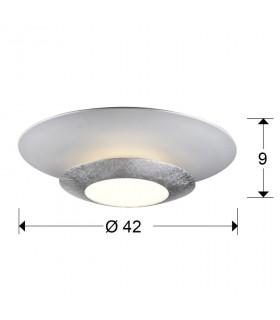 Plafón led HOLE plata 42cm 148193 - Schuller
