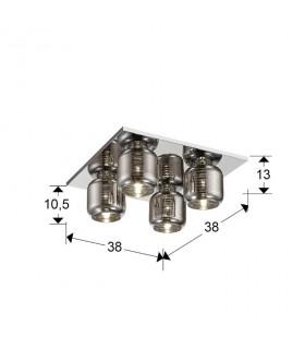 Plafón VIAS 4 luces 654377 - Schuller