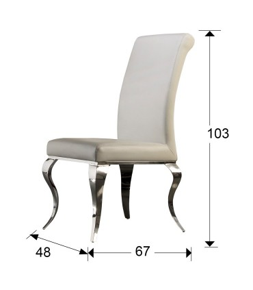 Silla BARROQUE acero blanca - Schuller 792538