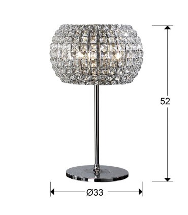 Sobremesa DIAMOND 3 luces - Schuller 507818