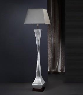 Lámpara de Pie DECO plata/negro con pantalla - Schuller