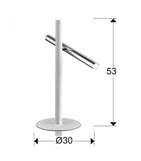 Sobremesa VARAS cromo 2 luces - Schuller 373581