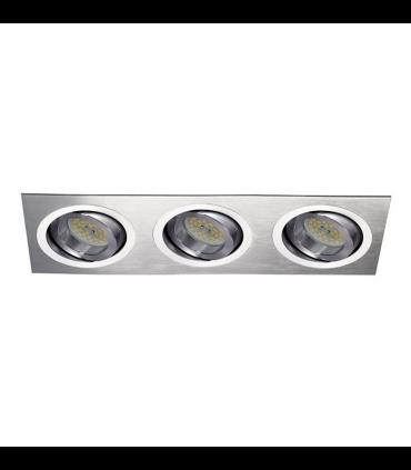 Foco empotrable Helium 3 luces Aluminio GU10