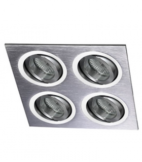 Foco empotrable Helium 4 luces Aluminio GU10