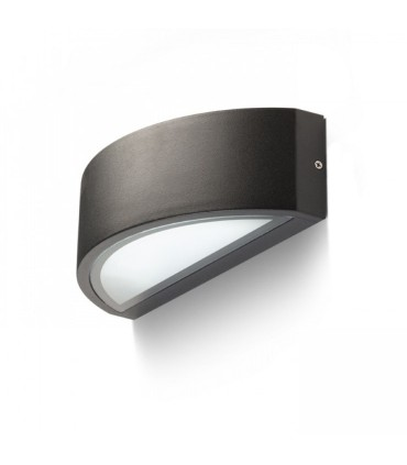 Aplique pared Lesa E-27 IP54 negro, blanco o gris