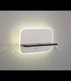 Aplique LED + 2*USB Lanzarote 18W Mantra