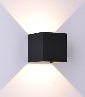 Aplique Davos 6524 cubo negro arena - Mantra