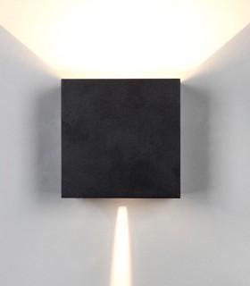 Aplique Davos XL 7437 negro arena 20W IP65 - Mantra