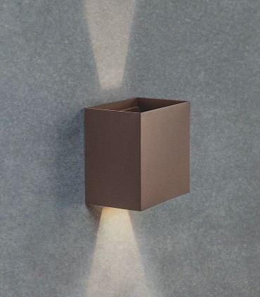 Aplique Davos XL 7438 marrón corten 20W IP65 - Mantra