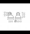 Medidas Aplique pared estilo Industrial gris rústico orientable
