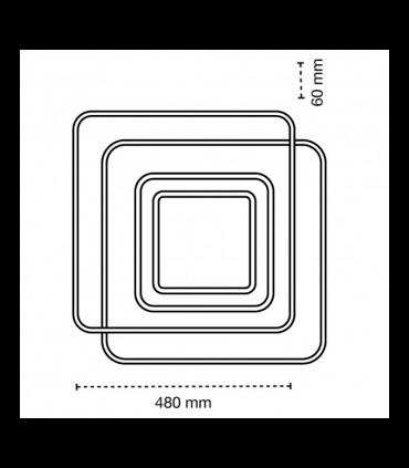 Medidas Plafón LED Lyra 100W CCT dimmable
