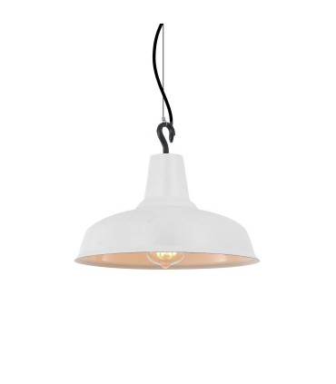 Lámpara campana metal blanco Ø28cm E27