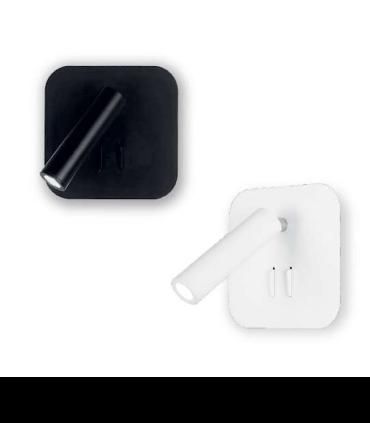 Aplique led orientable doble luz TD7 6W+3W negro o blanco