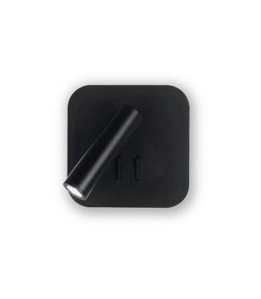 Aplique led orientable doble luz TD7 6W+3W negro