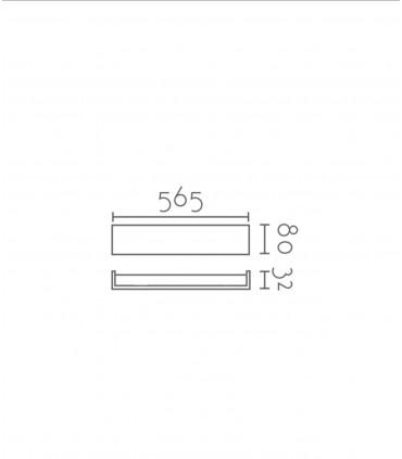 Aplique led luz indirecta TD10 24W 56.5cm blanco