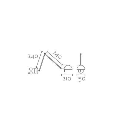 Aplique brazo articulado blanco IND1 orientable E27