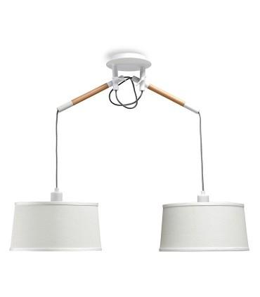 Lámpara de Techo Blanca NÓRDICA 2 Brazos