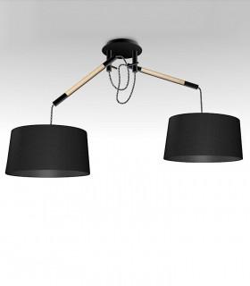Lámpara de Techo Negra NÓRDICA 2 Brazos