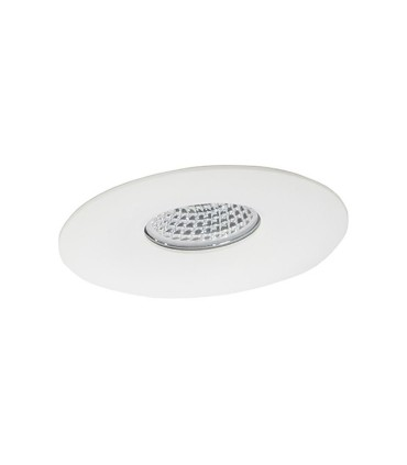Aro Empotrable Fijo circular 98mm Blanco