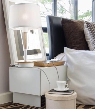 Lámpara de Sobremesa NÓRDICA Con USB 5464 de Mantra, foto de ambiente
