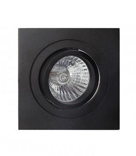 Aro Foco Empotrable Cuadrado Negro BASIC Orientable C0008 Mantra