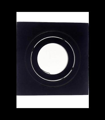 Foco empotrable Helium GU10 cuadrado negro