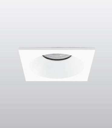 Aro Empotrable cuadrado fijo blanco SH121 IP65 85mm