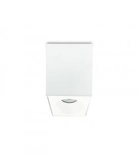 Foco superficie cuadrado fijo blanco IP65 90mm 1022C02