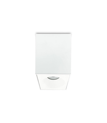 Foco superficie cuadrado fijo blanco IP65 90mm 1022C02