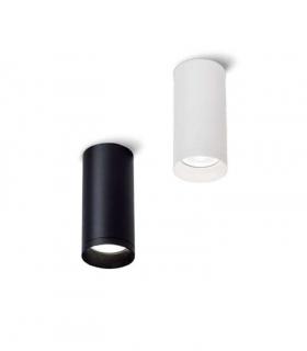 Foco superficie redondo fijo blanco o negro Ø60mm GU10 MX8104
