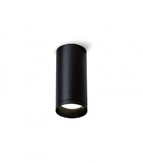 Foco superficie redondo fijo  negro Ø60mm GU10 MX8104