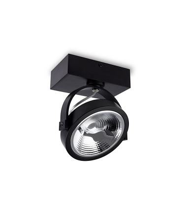 Foco superficie led 15W orientable negro MX1130