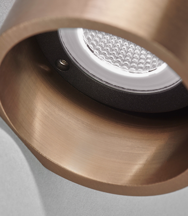 Detalle parte inferior Aplique Zero W1 oro rosa Ø70mm - LIGHT POINT