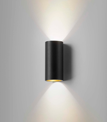 Aplique Zero W1 negro/oro Ø70mm - LIGHT POINT