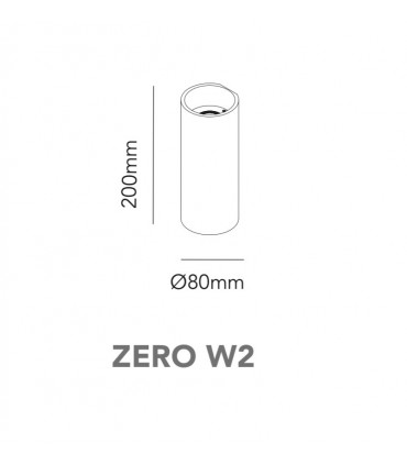 Aplique Zero W2 blanco, negro, negro/oro Ø80mm - LIGHT POINT
