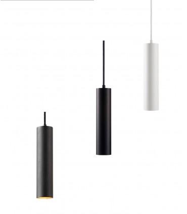 Lámpara Colgante Zero S2 blanco, negro, negro/oro Ø70x300mm - LIGHT POINT