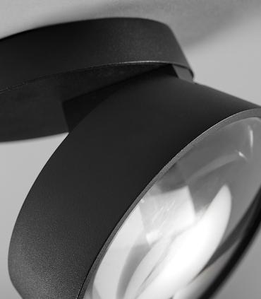 Detalle foco VANTAGE 1+  negro Ø130mm - LIGHT POINT