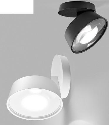 Foco orientable VANTAGE 1+ blanco, negro Ø130mm - LIGHT POINT