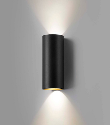 Aplique Zero W2 negro/oro Ø80mm - LIGHT POINT