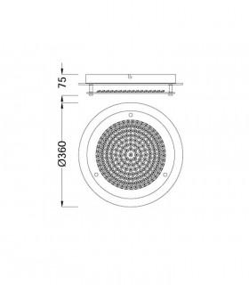 Plafón Crystal Led circular 18W mediano 5091, medidas.